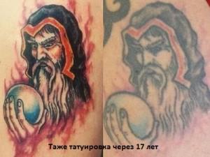 деформация тату со временем фото