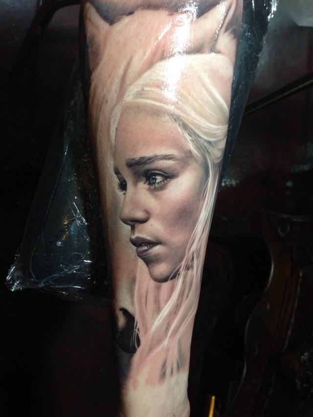 Дайнерис Таргариан фото татуировки из Игры престолов