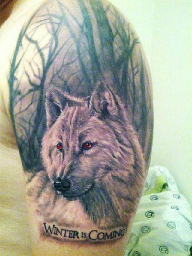 Игра престолов Зима идет татуировка фото