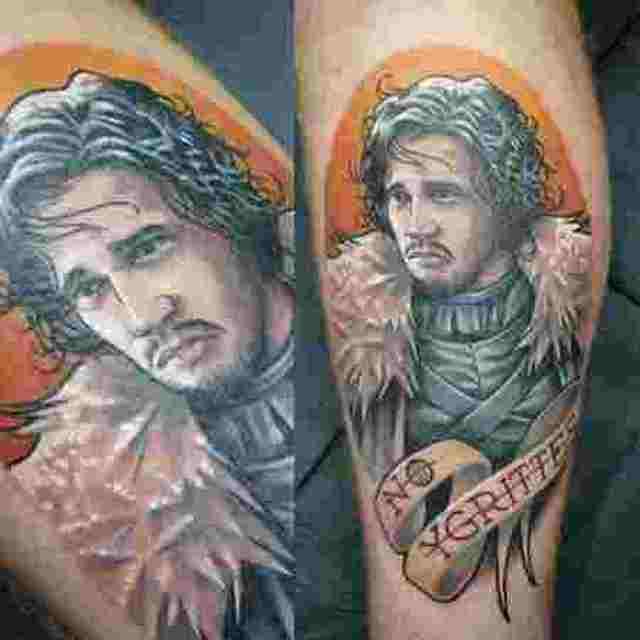 фото татуировки Джон Сноу