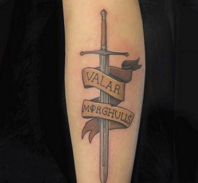 Игра престолов Валар Моргулис татуировки фото