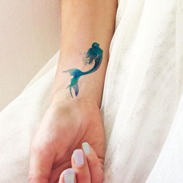 фото Татуировка русалка на руке 2018