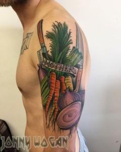 татуировка морковь фото