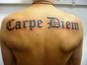 татуировка carpe diem значение