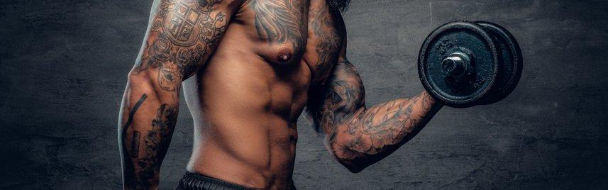 тренажерный зал после татуировки