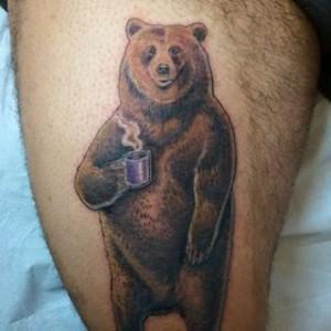 Фото тату медведь