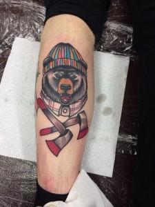 медведь татуировка