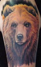 красивое тату медвеь