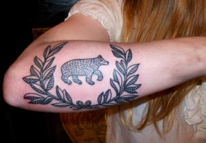 татуировка мишка