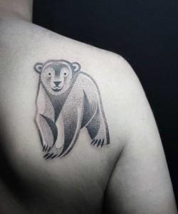 татуировка медведь фото