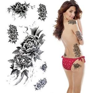 татуировка цветы красивая