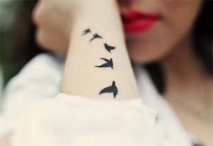 птицы татуировка