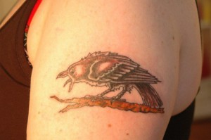 татуировка ворон