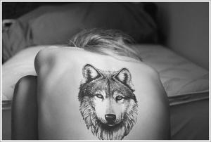 Фото тату волк